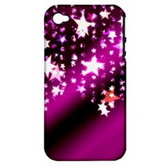 Background Christmas Star Advent Apple Iphone 4/4s Hardshell Case (pc+silicone)