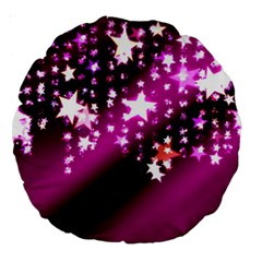 Background Christmas Star Advent Large 18  Premium Round Cushions
