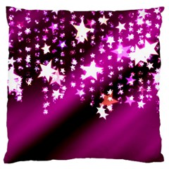 Background Christmas Star Advent Large Flano Cushion Case (two Sides)