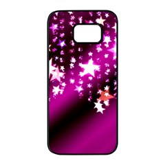 Background Christmas Star Advent Samsung Galaxy S7 Edge Black Seamless Case