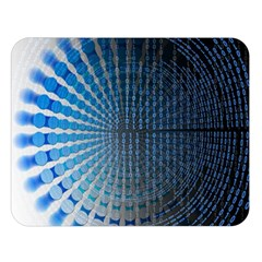 Data Computer Internet Online Double Sided Flano Blanket (large)