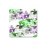 Horse Horses Animal World Green Square Magnet Front
