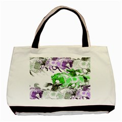 Horse Horses Animal World Green Basic Tote Bag