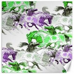Horse Horses Animal World Green Canvas 20  X 20