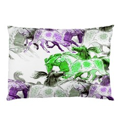 Horse Horses Animal World Green Pillow Case