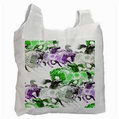 Horse Horses Animal World Green Recycle Bag (one Side)