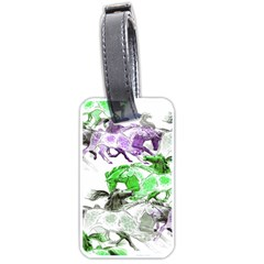 Horse Horses Animal World Green Luggage Tags (two Sides)