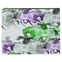 Horse Horses Animal World Green Cosmetic Bag (xxxl)