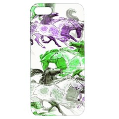 Horse Horses Animal World Green Apple Iphone 5 Hardshell Case With Stand