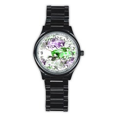 Horse Horses Animal World Green Stainless Steel Round Watch