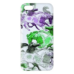 Horse Horses Animal World Green Iphone 5s/ Se Premium Hardshell Case