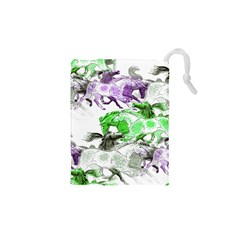 Horse Horses Animal World Green Drawstring Pouches (xs)