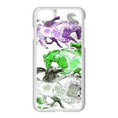 Horse Horses Animal World Green Apple Iphone 7 Seamless Case (white)