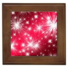 Christmas Star Advent Background Framed Tiles