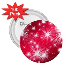 Christmas Star Advent Background 2 25  Buttons (100 Pack)