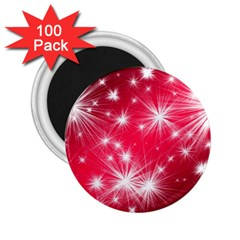 Christmas Star Advent Background 2 25  Magnets (100 Pack)