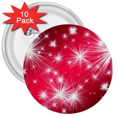 Christmas Star Advent Background 3  Buttons (10 Pack)