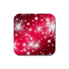 Christmas Star Advent Background Rubber Coaster (square)