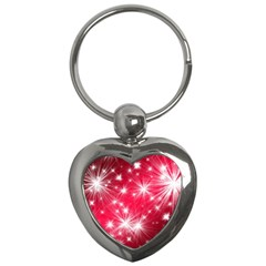 Christmas Star Advent Background Key Chains (heart)
