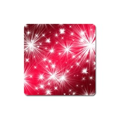 Christmas Star Advent Background Square Magnet