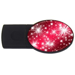 Christmas Star Advent Background Usb Flash Drive Oval (4 Gb)
