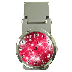 Christmas Star Advent Background Money Clip Watches