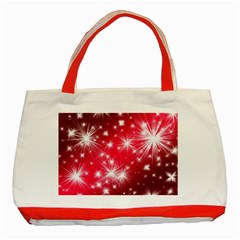 Christmas Star Advent Background Classic Tote Bag (red)