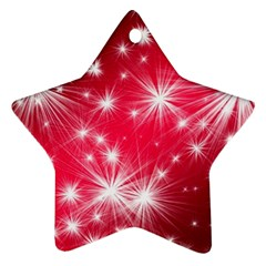 Christmas Star Advent Background Star Ornament (two Sides)