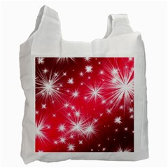 Christmas Star Advent Background Recycle Bag (one Side)