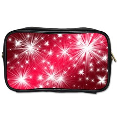 Christmas Star Advent Background Toiletries Bags 2 Side