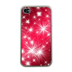 Christmas Star Advent Background Apple Iphone 4 Case (clear)
