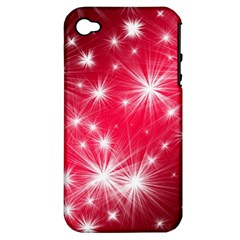 Christmas Star Advent Background Apple Iphone 4/4s Hardshell Case (pc+silicone)