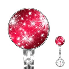 Christmas Star Advent Background Stainless Steel Nurses Watch