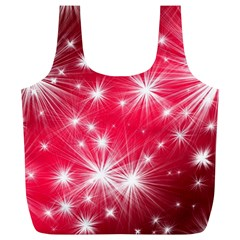 Christmas Star Advent Background Full Print Recycle Bags (l)