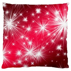 Christmas Star Advent Background Large Flano Cushion Case (two Sides)