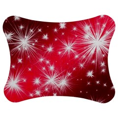 Christmas Star Advent Background Jigsaw Puzzle Photo Stand (bow)