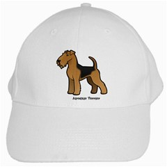Airedale Terrier White Cap