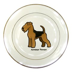 Airedale Terrier Porcelain Display Plate