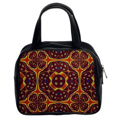 Geometric Pattern Classic Handbags (2 Sides)