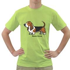 Basset Hound Green T Shirt