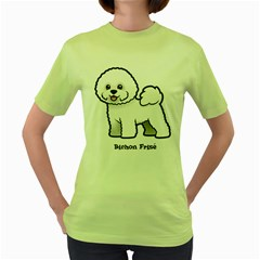 Bichon Frise Women s Green T Shirt