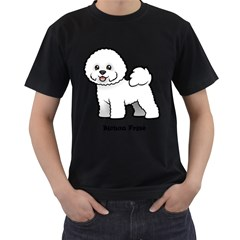 Bichon Frise Men s T Shirt (black) (two Sided)