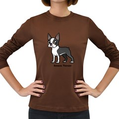 Boston Terrier Women s Long Sleeve T Shirt (dark Colored)