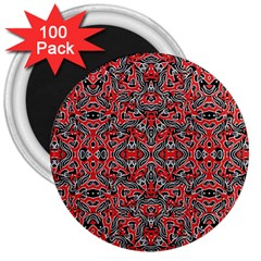 Exotic Intricate Modern Pattern 3  Magnets (100 Pack)