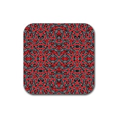 Exotic Intricate Modern Pattern Rubber Square Coaster (4 Pack)