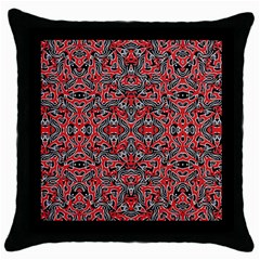 Exotic Intricate Modern Pattern Throw Pillow Case (black)