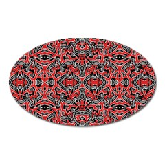 Exotic Intricate Modern Pattern Oval Magnet