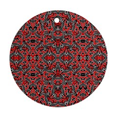Exotic Intricate Modern Pattern Round Ornament (two Sides)