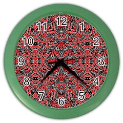 Exotic Intricate Modern Pattern Color Wall Clocks