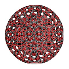 Exotic Intricate Modern Pattern Round Filigree Ornament (two Sides)